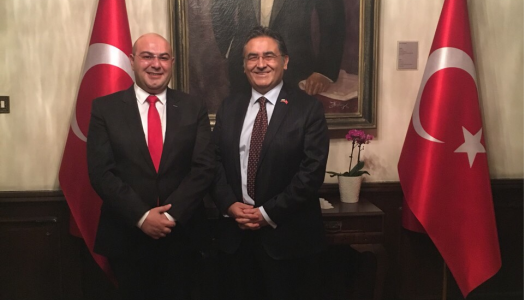 Altinbas on visit to the residence of the ambassador of Turkey Hasan Ulusoy