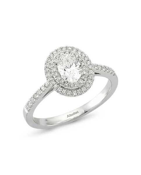 Ring with  investment diamond oval 1.27 ct