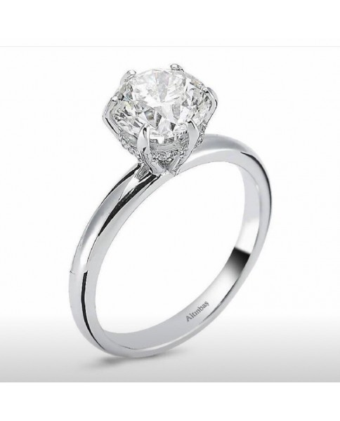 Ring with investment diamond 2.02 ct